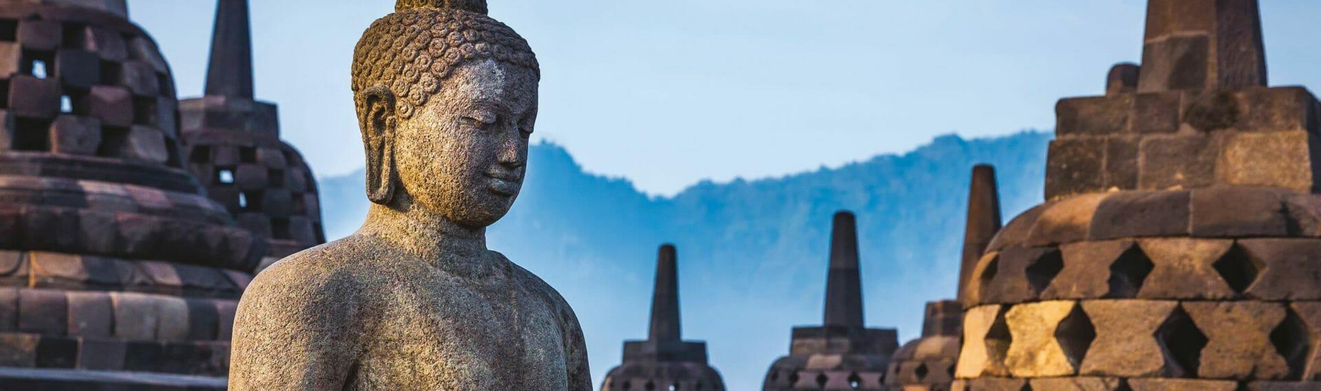 Borobodur, Indonésie, Java